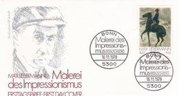 Germany FDC 1978 Malerei Des Impressionismus - Max Liebermann  (G97-52) - Impressionismo