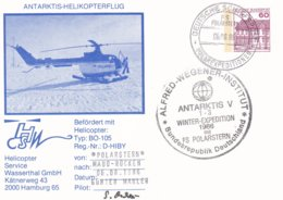 Germany PS Antarktis-Helikopterflug F/S Polarstern Winter Expedition 1986 (G97-52) - Helicopters