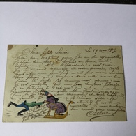 CPA / OLD Homemade Cuttings Card / France No1 / Used 1905 - Postkaarten
