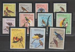 Papouasie Nlle Guinée 1964-65 Oiseaux 62-72 11 Val** MNH - Papouasie-Nouvelle-Guinée