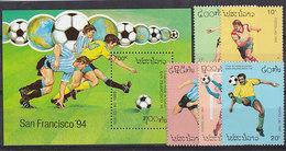 Soccer World Cup 1994 - Football - LAOS - S/S+Set MNH - World Cup