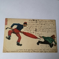 CPA / OLD Homemade Cuttings Card / France No2/ Used 1905 - Postkaarten