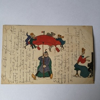CPA / OLD Homemade Cuttings Card / France No3/ Used 1905 - Postkaarten