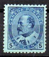 Sello Nº 80  Canada - 1903-1908 Reinado De Edward VII