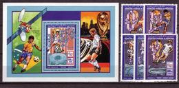 Soccer World Cup 1994 - Football - MAURITANIE - S/S+Set MNH - World Cup