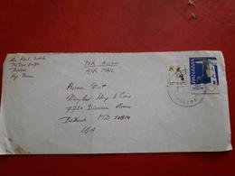 Le Panama Enveloppe Circulé Aux USA Avec Timbre Une Comète(cerf-volant) Halley - Panama