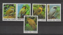 Papouasie Nlle Guinée 1989 Oiseaux 591-95 5 Val** MNH - Papouasie-Nouvelle-Guinée