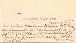 Visitekaartje - Carte Visite - Onderpastoor J. Van De Catsyne - Beveren Waas - Cartes De Visite