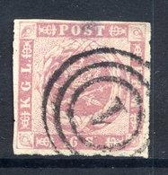 DENMARK 1863 16 Sk. Rouletted 11, Used. .  Michel 10 - 1851-63 (Frederik VII)