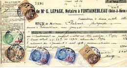 """Timbre Fiscal:  Timbre Fiscal Type """"Série Unifiée"""" Sur Récépissé Notarial - Fiscaux"""