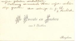 Visitekaartje - Carte Visite - Overste En Zusters Van 't Gasthuis - Borgloon - Cartoncini Da Visita