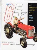 Massey-Ferguson 65   -  1957  -  Publicite D'Epoch  -  CPM - Tracteurs