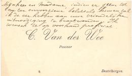 Visitekaartje - Carte Visite - Pastoor C. Van Der Wee - Destelbergen - Cartes De Visite