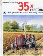 Massey-Ferguson 35   -  1958  -  Publicite D'Epoch  -  CPM - Tracteurs