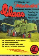 Claas 'Matador' Combine Harvester   -  1952  -  Publicite D'Epoch  -  CPM - Trattori