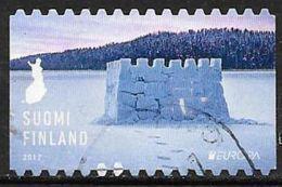 Finlande 2017 Timbre Oblitéré Europa Chateau - Finnland