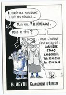 VEYRI - Carte Personnelle De Déménagement - 1992 -  Voir Scan - Veyri, Bernard
