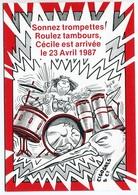 """VEYRI - Carte Personnelle S. Pampouille """"Cécile Est Arrivée """"  1987 -  Voir Scan - Veyri, Bernard"""