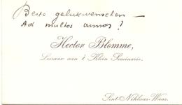Visitekaartje - Carte Visite - Leraar Klein Seminarie Sint Niklaas Waas - Hector Blomme - Cartes De Visite
