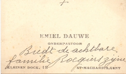 Visitekaartje - Carte Visite - Onderpastoor St Macharius Gent - Emiel Dauwe - Cartes De Visite