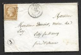 Seine Et Marne-Enveloppe-PC 1744 De Lizy Sur N°13A - Marcophilie (Lettres)
