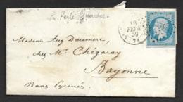 Seine Et Marne-Lettre-La Ferté Gaucher Pour Bayonne-N°14A - Marcophilie (Lettres)