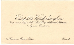 Visitekaartje - Carte Visite - Inspecteur Agence Gantoise - Théophile Vanderhaeghen - Gand Gent - Cartes De Visite