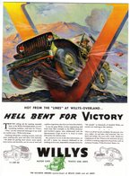 Willys Jeep (wartime)  -  Publicite D'Epoch  -  CPM - Toerisme