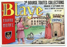 VEYRI - Carte De La 7° Bourse De BLAYE - Lycée Rudel - 1992 - Voir Scan - Veyri, Bernard