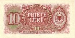 ALBANIA P. 28a 10 L 1957 UNC - Albanie