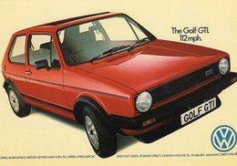 Volkswagen Golf GTi Mk I  -  1975  -  Publicite D'Epoch  -  CPM - Turismo