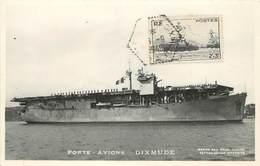 """PORTE AVIONS - """"Dixmude"""", Cachet Du Bateau . - Guerre"""