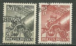 POLAND Oblitéré 652-653 Commémoration Du Plan Sexennal Usine De Wierzbica - Oblitérés