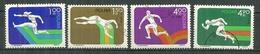 POLAND Oblitéré 2202-2205 Championnat D'Europe D'athlétisme Course Sut - 1944-.... Republik