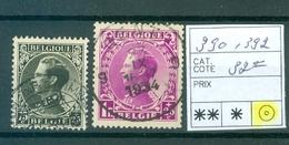 390 Et 392  Obl  Cob 32.00€ - Unclassified