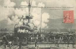 TOULON - Le Cuirassé Iéna Explosant Dans Le Bassin De Missiessy. - Guerre
