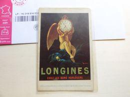 LONGINES Chez Les Bons Horlogers Comoedia Etablissements Vercasson Publicité - Publicidad