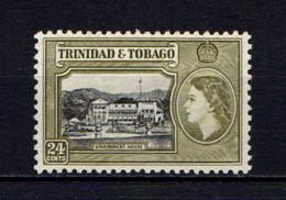 TRINIDAD  AND  TOBAGO    1953    24c  Black  And  Yellow  Olive    MH - Trinidad & Tobago (...-1961)