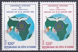 Elfenbeinküste Ivory Coast Cote D'Ivoire 1985 Organisationen Wohlfahrt Social Welfare Rotary, Mi. 845-6 ** - Côte D'Ivoire (1960-...)