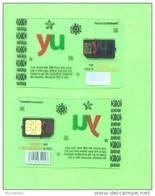 KENYA - Mint/Unused SIM Chip Phonecard/YU Transparent - Kenya