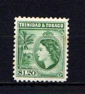 TRINIDAD  AND  TOBAGO    1953    $1-20  Bluish  Green    MH - Trinidad & Tobago (...-1961)