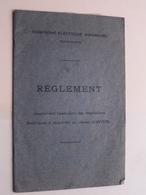 Compagnie Electrique Anversoise ( Réglement ) Zie / Voir > Avec PLAN ( Zie Foto's ) Anno 19?? ( Français ) ! - Planches & Plans Techniques