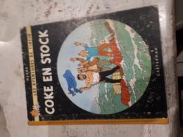 TINTIN COKE EN STOCK -ETAT B-PLAT B35-1964 - Tintin