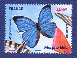 FRANCE Papillon Neuf **. Morpho Bleu. - Papillons