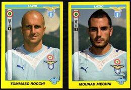 FOOTBALL - PANINI - CALCIATORI 2009/2010 - LAZIO - ROCCHI / MEGHNI - STICKERS - Calcio