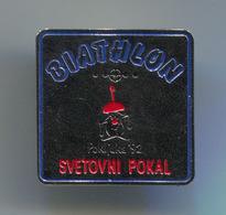 Ski Skiing Jumping - BIATHLON World Cup, Pokljuka Slovenia, 1992, Pin, Badge, Abzeichen - Biathlon