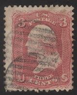 1861, US, 3c, Used, George Washington, Sc 64a, Pigeon Blood Pink, Cv 4750$ - Used Stamps