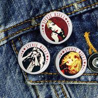 35 X ROCK STEVIE NICKS Music Fan ART BADGE BUTTON PIN SET 3 (1inch/25mm Diameter) - Music