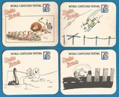 4 Sous-bocks Stella Artois World Cartoons Festival Knokke-Heist - Sous-bocks