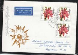 """DDR 1989, Luftpostbrief """"Blattkaktuszüchtungen Mit 3xMiNr. 3278  / GDR 1989, Airmail Cover  """"Leaf Cactus Varieties"""" - Sukkulenten"""
